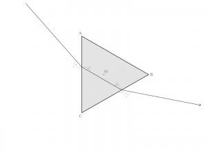 Strahlengang im symmetrisch ausgerichteten Prisma