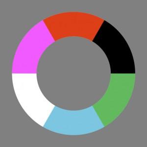 Unordentlicher Farbenkreis Nr.1