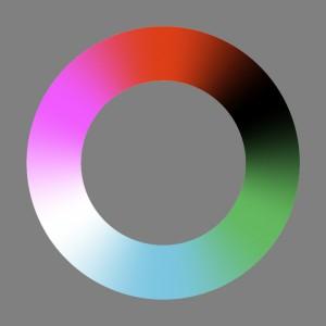 Unordentlicher Farbenkreis Nr.1 (ohne scharfe Farbabstufung)