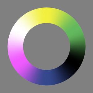 Unordentlicher Farbenkreis Nr.2 (ohne scharfe Farbabstufung)