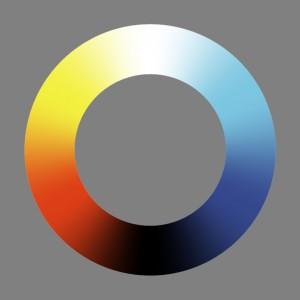 Unordentlicher Farbenkreis Nr.3 (ohne scharfe Farbabstufung)