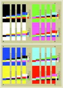 Vier Entwicklungsstufen aller acht Spektren